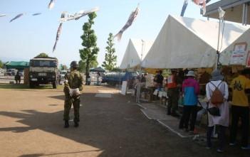 物資配布テントの様子
