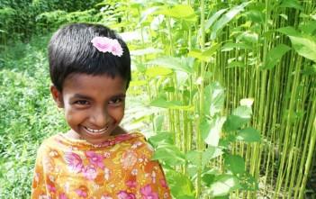 農村部に住む少女