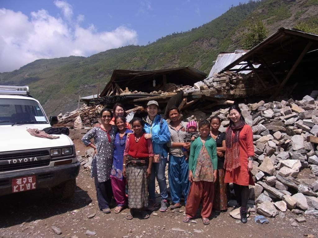 ネパール被災地の今