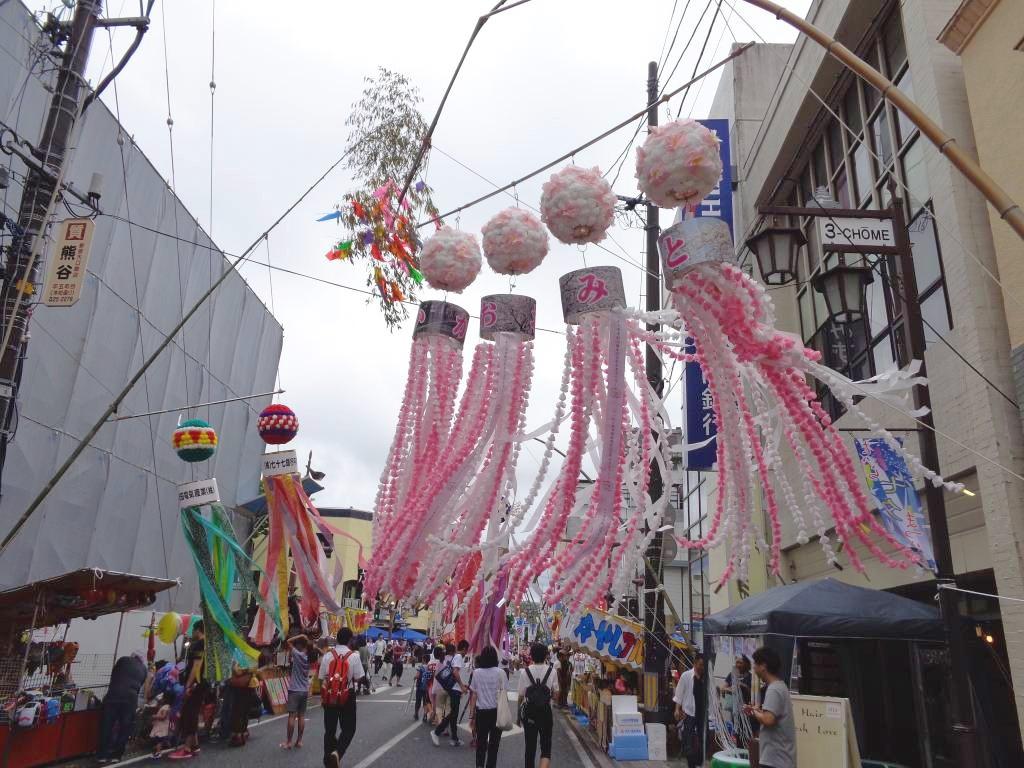 細部まで丁寧に作られていた富岡町の笹飾り。