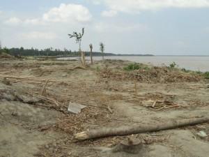 被害が大きかったアストミールチョール(中洲)