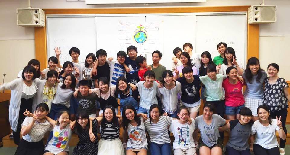 2016年8月に開催された中学生・高校生のための宿泊イベント「ユースフォーラム」の様子。中学生・高校生の参加者25名、「ユース・チーム」17名の総勢42名が参加しました。