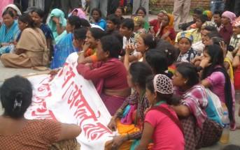 ダリット女性たちによる権利を求める運動(カトマンズ)