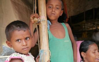 モイナールゴナ難民キャンプの子どもたち