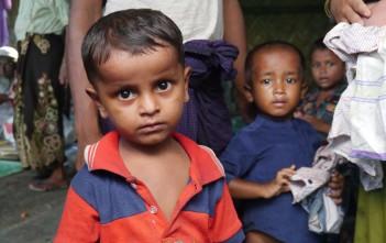 ロヒンギャの子ども、シャムラプールにて