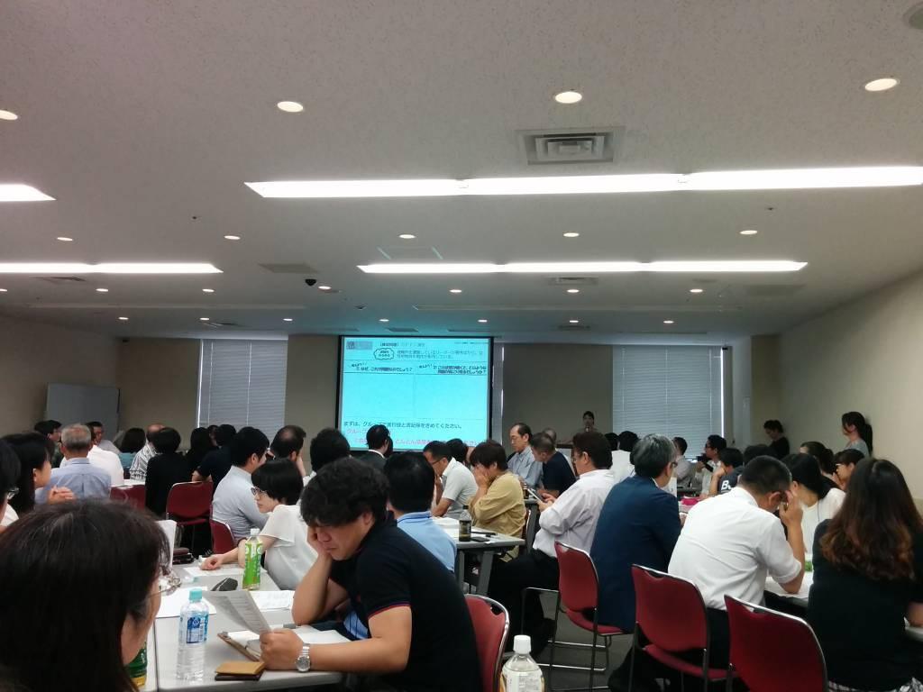 分科会「避難所における支援」にはたくさんの参加者が集まりました。