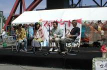 2008年のフェアトレードフェスタ。ステージイベントで熱く語る10年前の私。