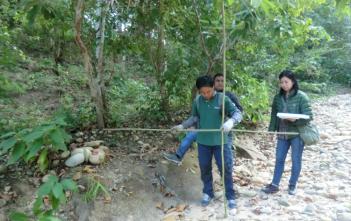 バンダルムレ川流域の砂防ダム敷設予定地