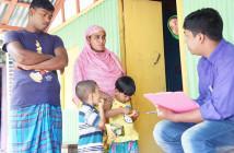 バングラデシュ、パラトリという行政村で6,086世帯を対象に全世帯調査を実施。