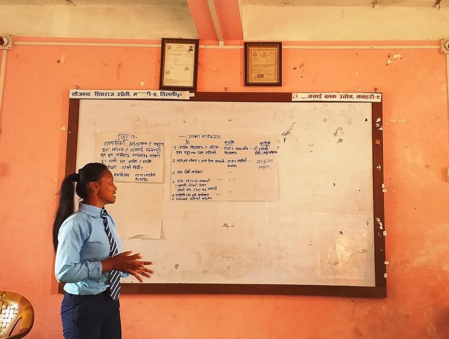 学生がこれまでに習った子どもの権利に関することを教えてくれた