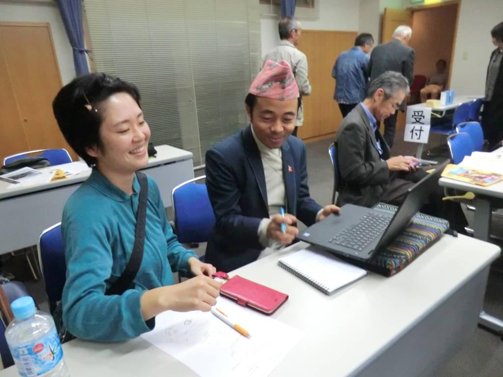 岡山NPOセンターのスタッフがキル職員への通訳もしてくださいました。