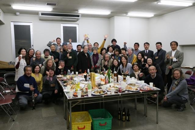 2018年正月シャプラニールの面々が横浜に集う。共に活動を担った絆は心強いね。