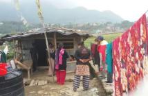 行政の支援が受けられなかった人々の家。2015年の震災後に地方から都市に流入してきたケースが多い。