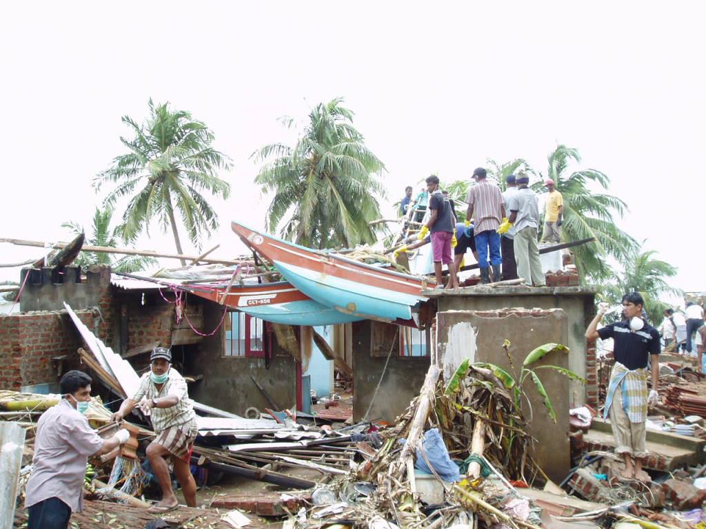 スリランカの津波被災地(20204年12月)