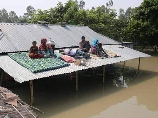 大雨により浸水の状況が悪化した地域の住民