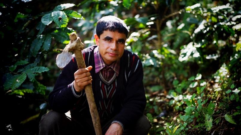 秋田県で農業を学んだ経験のあるコーヒー生産者のラジさん