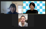 父母の会のメンバーにオンラインでお話を伺いました。左上が安井さん、下が村上さん