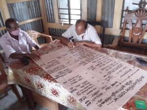 年間活動計画を作成する郡災害管理委員会メンバー